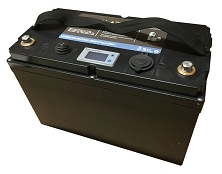 12V 100Ah<br>Lithium-ion Battery<br>27 Lbs. (12.2 Kg)<br>USA Stock