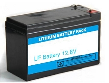 12V 100Ah EV LiFePO4 Lithium<br>Lead-Acid Replacement Battery Pack<br>With BMS<br>12.5 * 6.5 * 8.4 in.<br>28.2 Lbs.