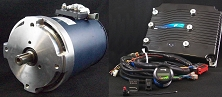 AC-9 48V-96V, 350-650A <br> HPEVS AC Motor Kits <br> With Curtis Controller