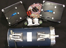 AC-34x2, AC-35x2, AC-3Xx2 Dual Motor Kit <br> 72V-144V 165 HP – 123 kW Peak <br> 188 ft-Lbs – 255 Nm Torque Peak <br> HPEVS EV AC Motor and Controller Kit <br> Curtis 1238E-7621 Controller (72-96V 650A) <br> Curtis 1239E-8521 Controller (72-144V 500A)