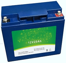 256 Watts 12V 20Ah<br>EV LiFePO4 Lithium Battery Pack<br>7.1 * 3.0 * 6.5 in.<br>6.6 Lbs.<br>MOQ 40