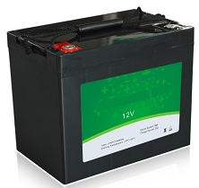 640 Watts 12V 50Ah<br>EV LiFePO4 Lithium Battery Pack<br>7.7 * 6.5 * 6.8 in.<br>15.4 Lbs.<br>MOQ 50